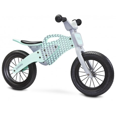 Enduro verde - bicicleta de madera sin pedales