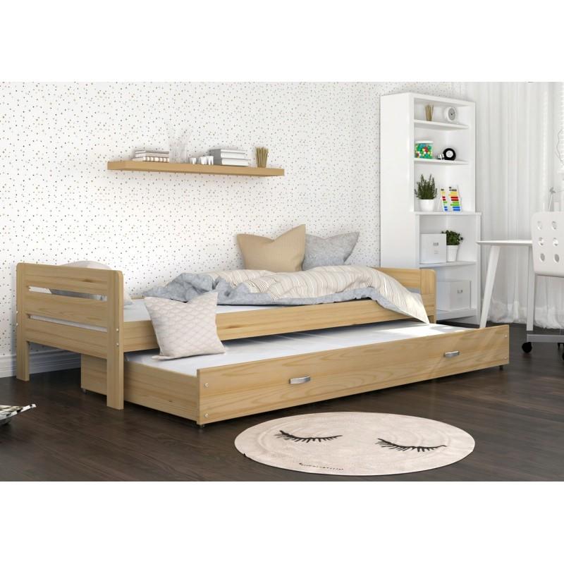 cama nido de madera maciza ben 200x90 cm