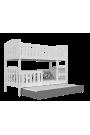 Cama litera con cama nido Jacob 3 190x80 cm